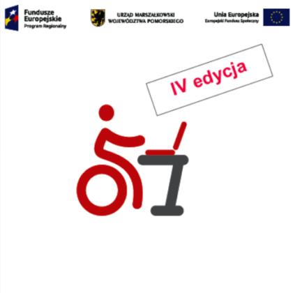 logo projektu KOMPetencje na wymiar oraz logotyp Europejskiego Funduszu Społecznego, logo Urzędu Marszałkowskiego Województwa Pomorskiego oraz Unii Europejskiej