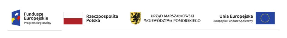 logo Funduszy Europejskich, Rzeczypospolitej Polskiej, Urzędu Marszałkowskiego Województwa Pomorskiego oraz Unii Europejskiej