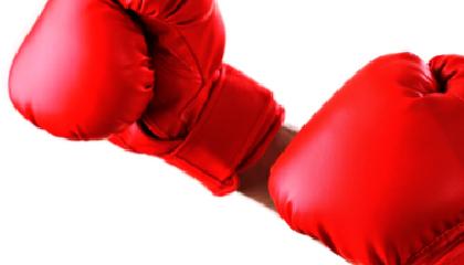 grafika przedstawia rękawice bokserskie - jako symbol walki ze stereotypami, które są tematem webinaru