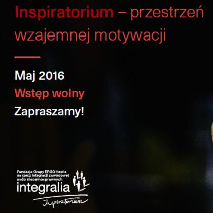 Grafika zapraszająca do udziału w projekcie Inspiratorium.